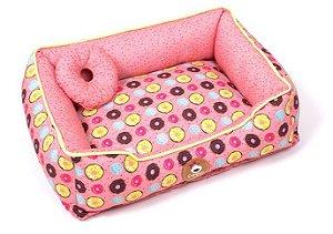Cama para Cachorros Donuts Rosa