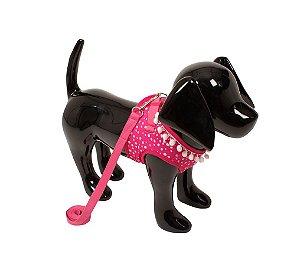 Peitoral com Guia para Cachorro Space Animal Rosa