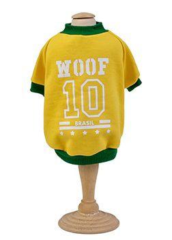 Moletom do Brasil p/ Cachorro Amarelo Woof