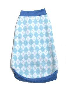 Blusão Básico para Cachorros Charme Azul
