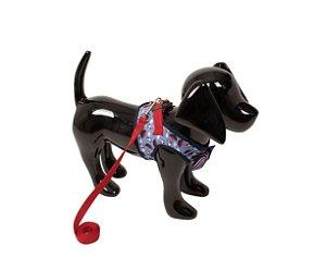 Peitoral com Guia para Cachorro Tuty Azul