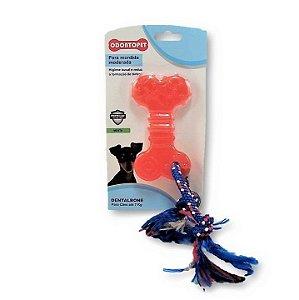Brinquedo Dentalbone Flat Corda 7 Kg Vermelho - Odontopet