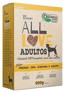 Ração Orgânica All Love para Cães Adultos Sabor Frango 900g