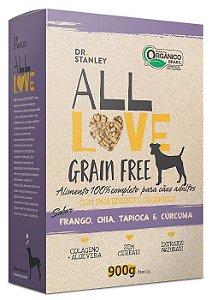 Ração Orgânica All Love para Cães Grain Free 900g
