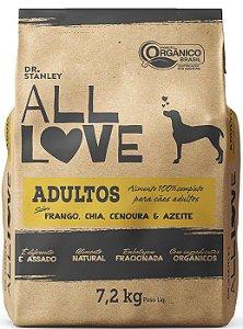 Ração Orgânica All Love para Cães Adultos Sabor Frango 7,2 kg