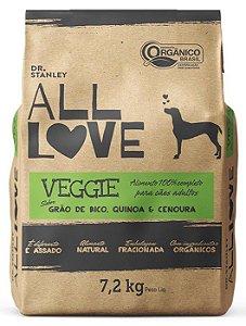 Ração Orgânica All Love para Cães Veggie 7,2 kg
