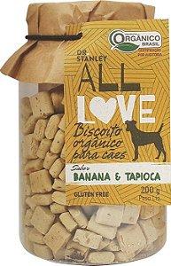 Biscoito Orgânico All Love para Cães - Banana & Tapioca