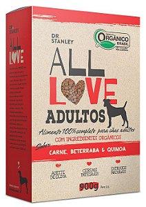 Ração Orgânica All Love para Cães Adultos Sabor Carne 900g