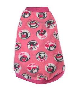 Blusão Básico para Cachorros Pinguim Rosa