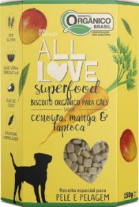 Biscoito Orgânico All Love Superfood | Cenoura, Manga e Tapioca 150g