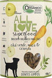 Biscoito Orgânico All Love Superfood | Chá Verde, Maçã & Cenoura