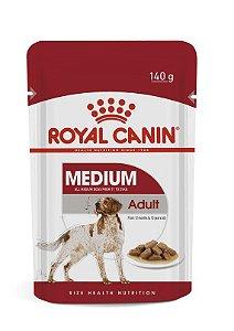 Ração Úmida Royal Canin Medium Adult Sachê para Cachorros Adultos de Raças Médias 140g