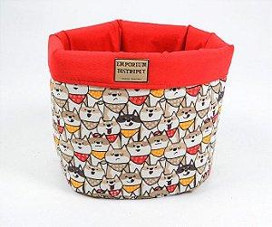 Cesto Organizador para Cachorro | Gatos Doguinhos Vermelho