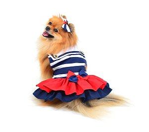 Vestido para Cachorro Marinheiro