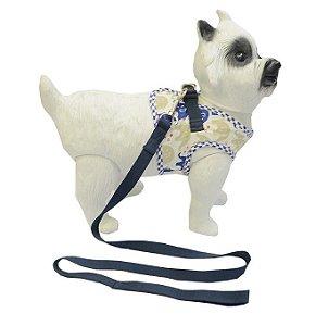Peitoral com Guia para Cachorro Happy Azul
