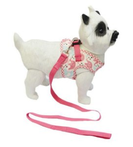 Peitoral com Guia para Cachorro Happy Rosa