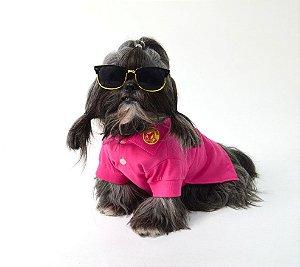 Camisa Polo para Cachorro Pet Style Pink
