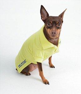 Camisa Polo para Cachorro Pet Style Amarelo