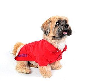 Camisa Polo para Cachorro Pet Style Vermelho