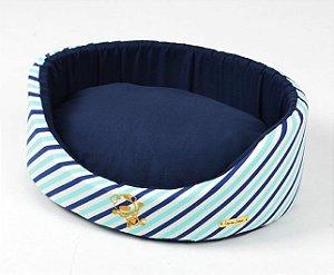 Cama Oval para Cachorros Queen Azul