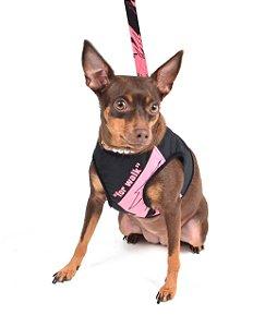 Peitoral com Guia para Cachorro For Walk Rosa