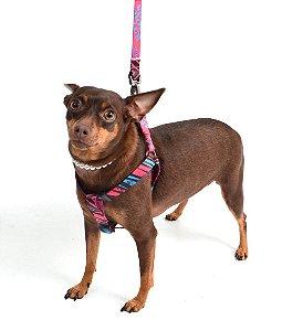 Peitoral para Cachorro com Guia Slim Social Club Rosa