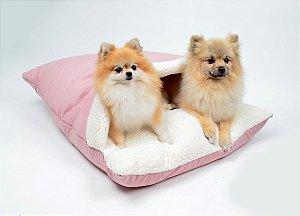 Almofadão para Cachorros | Gatos Sarja Premium Rosê