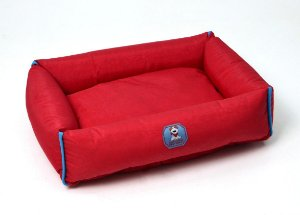 Cama para Cachorros   Gatos Nylon Vermelha