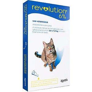 Antipulgas Revolution 6% 45 mg/0,75 ml para Gatos 2,5kg a 7kg