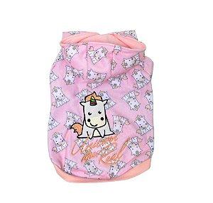 Blusão para Cachorros | Gatos Unicórnio Rosa