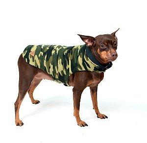 Capa para Cachorros Dupla Face Camuflada Verde