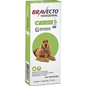 Bravecto Antipulgas e Carrapatos Transdermal para Cães de 10 até 20 kg