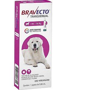 Bravecto Antipulgas e Carrapatos Transdermal para Cães de 40 até 56 kg