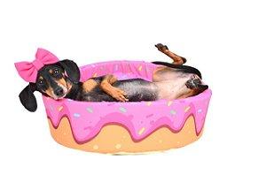 Cama Redonda para Cachorros | Gatos Donuts Rosa