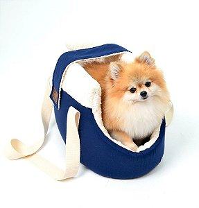 Bolsa de Passeio para Cachorros Sarja Premium Marinho