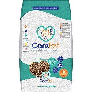 Areia Granulada de Madeira Premium CarePet para Gatos