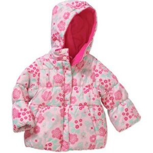 Casaco puffer rosa florido Child of Mine made by CARTERS