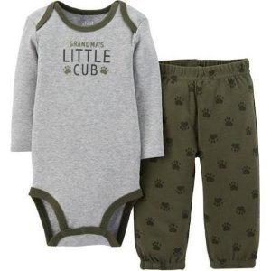 Conjunto 2 peças cinza e verde Child of Mine made by CARTERS