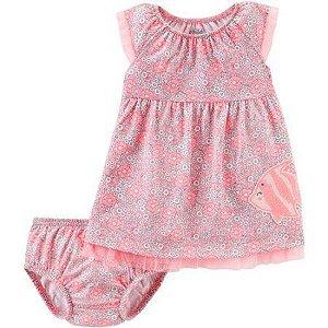 Vestido rosa florido Peixinho Child of Mine made by CARTERS