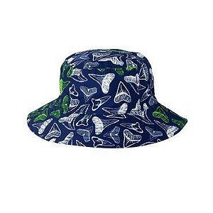 Chapéu reversível azul marinho, branco e verde 12-24 meses - GYMBOREE