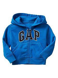 Casaco moletom flanelado com capuz Azul Royal - GAP