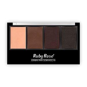 Paleta Para Sobrancelha - Ruby Rose HB9354