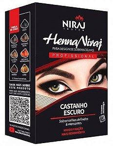 Henna Niraj para Design de Sobrancelha Castanho Escuro
