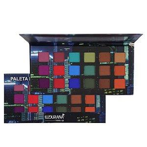 Paleta de Sombras 18 cores Matte Urbana - Ludurana