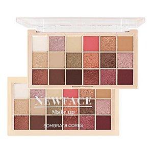 Paleta de Sombras 18 cores - New Face 01