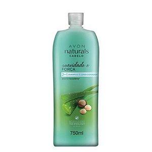 Shampoo e Condicionador 2 em 1 Naturals Cabelo Suavidade e F