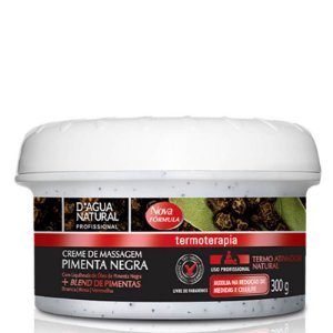 Creme Pimenta Negra Termo Ativador D'agua Natural - 300g