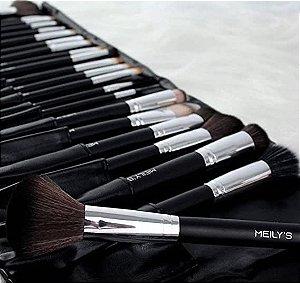 Kit 22 Pinceis De Maquiagem Profissional Linha Meily's