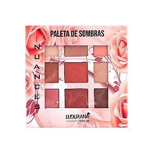 Paleta de Sombras Nuances 9 Cores Nude - Ludurana