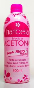 Removedor De Esmalte Acetona Franbella Com 500 mL